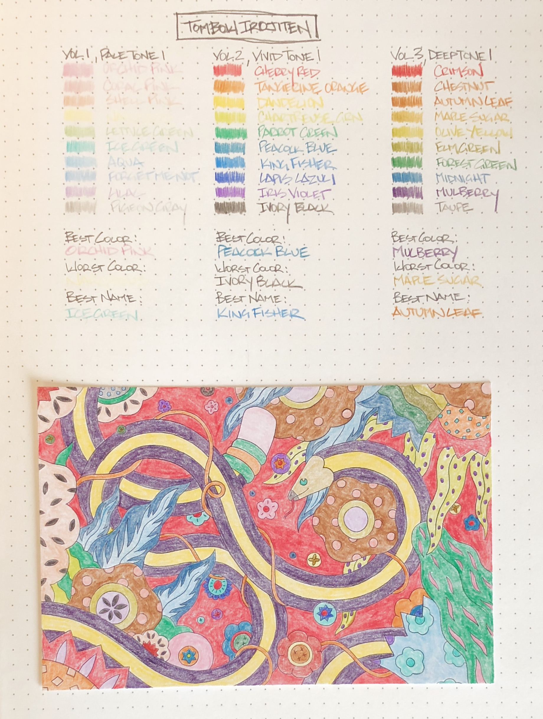 Tombow Irojiten Color Dictionary Color Pencil All Colors