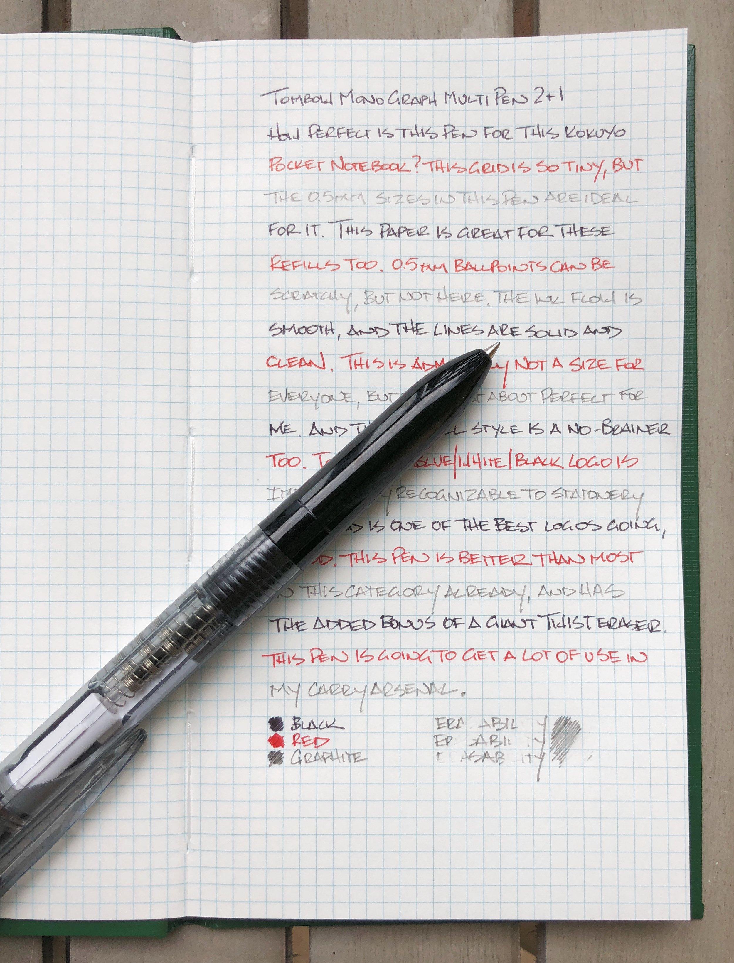 Tombow Mono Graph Multi Pen Writing