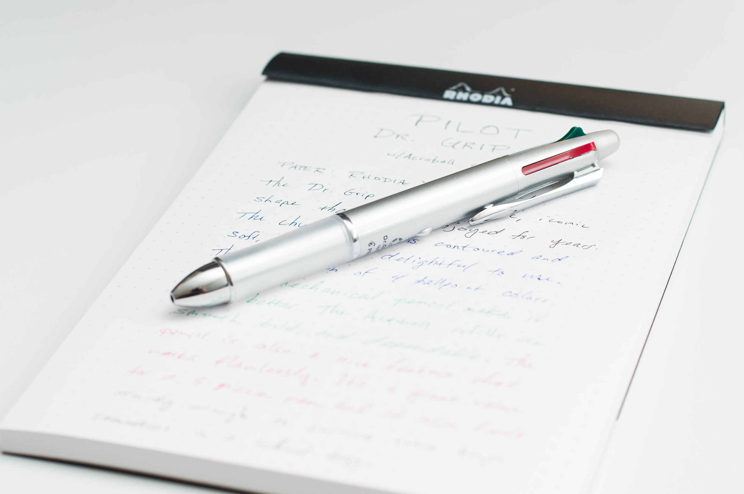 Pilot Dr. Grip 4+1 4-Color Multi Pen Review
