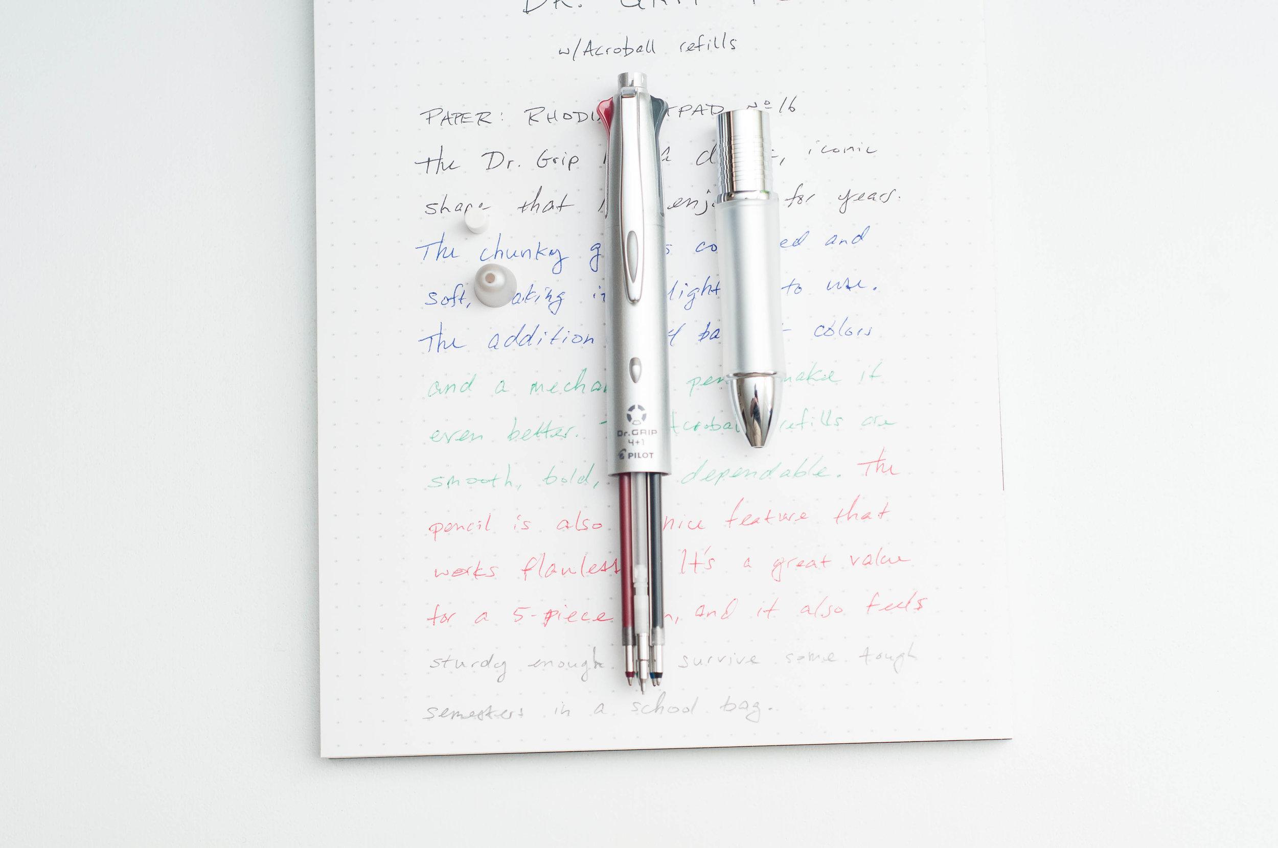 Pilot Dr. Grip 4+1 4-Color Multi Pen Colors