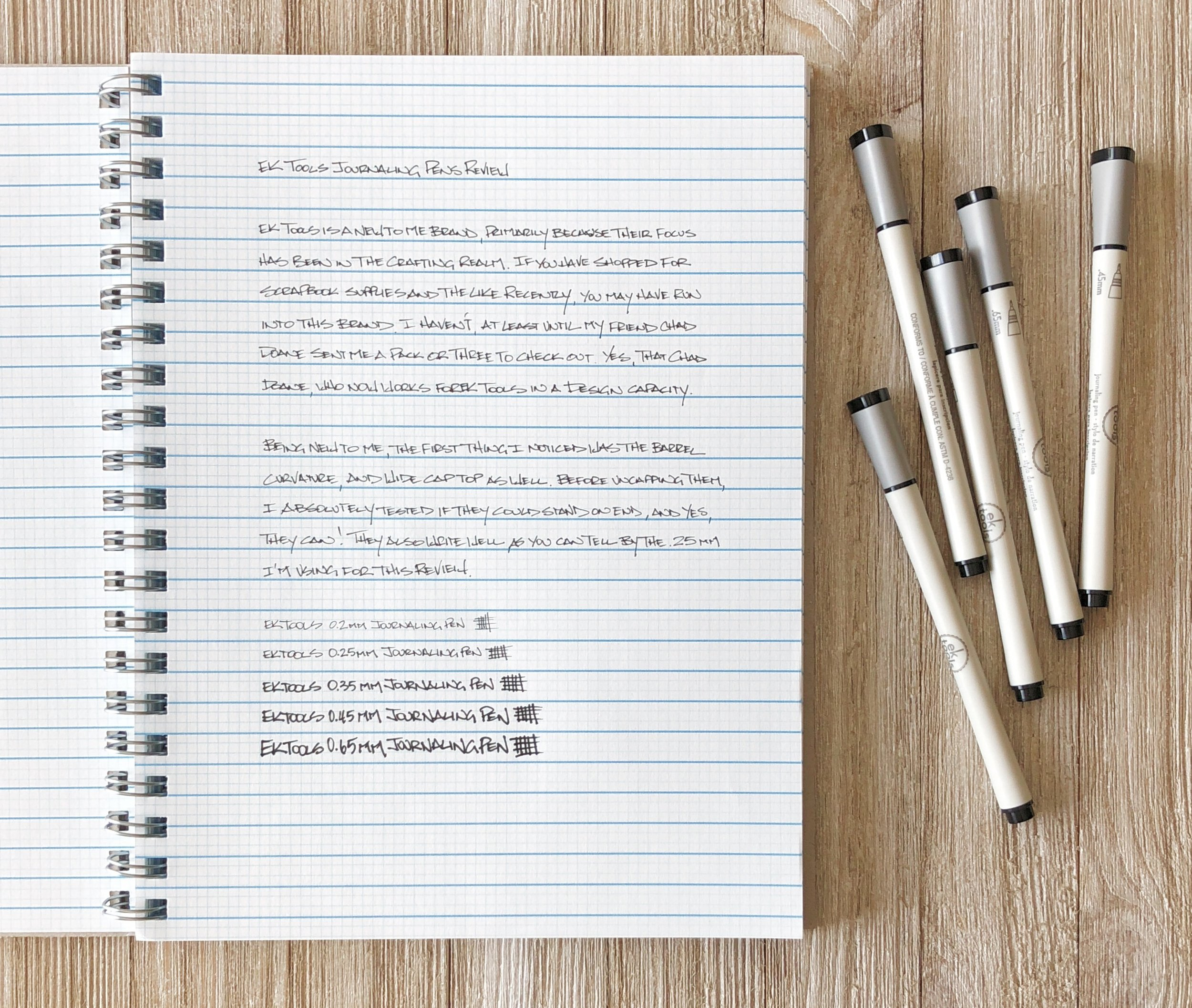 EK Tools Journaling Pen Writing
