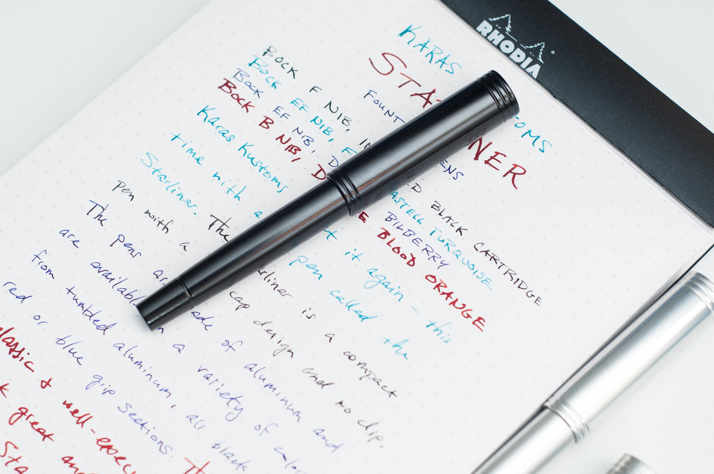Karas Kustoms Starliner Fountain Pen No Clip