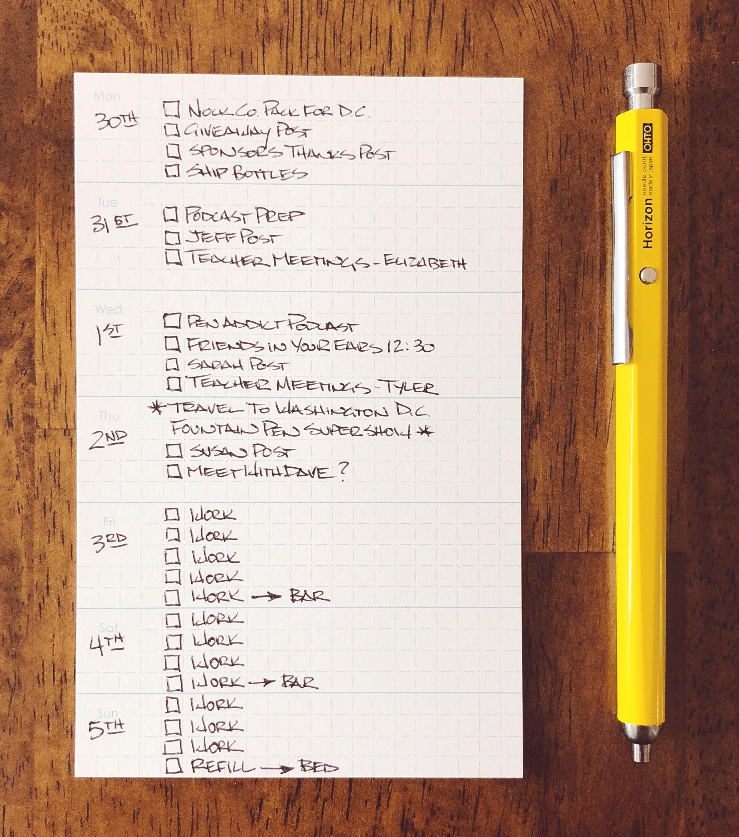Ohto Horizon EU Ballpoint Pen Review