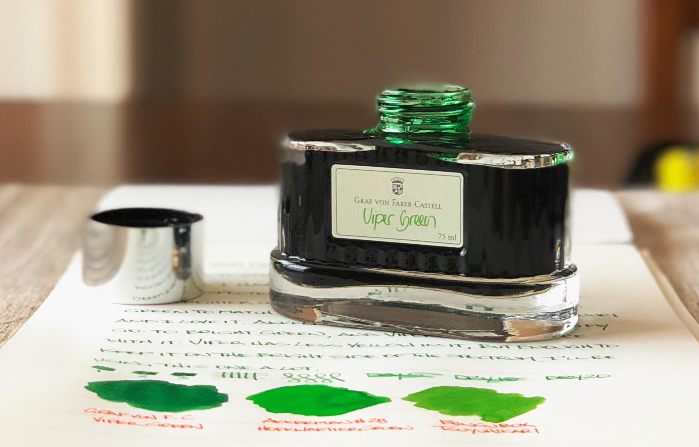 Graf von Faber Castell Viper Green Ink