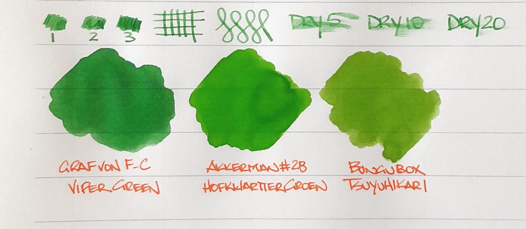 Graf von Faber Castell Viper Green Ink Swab