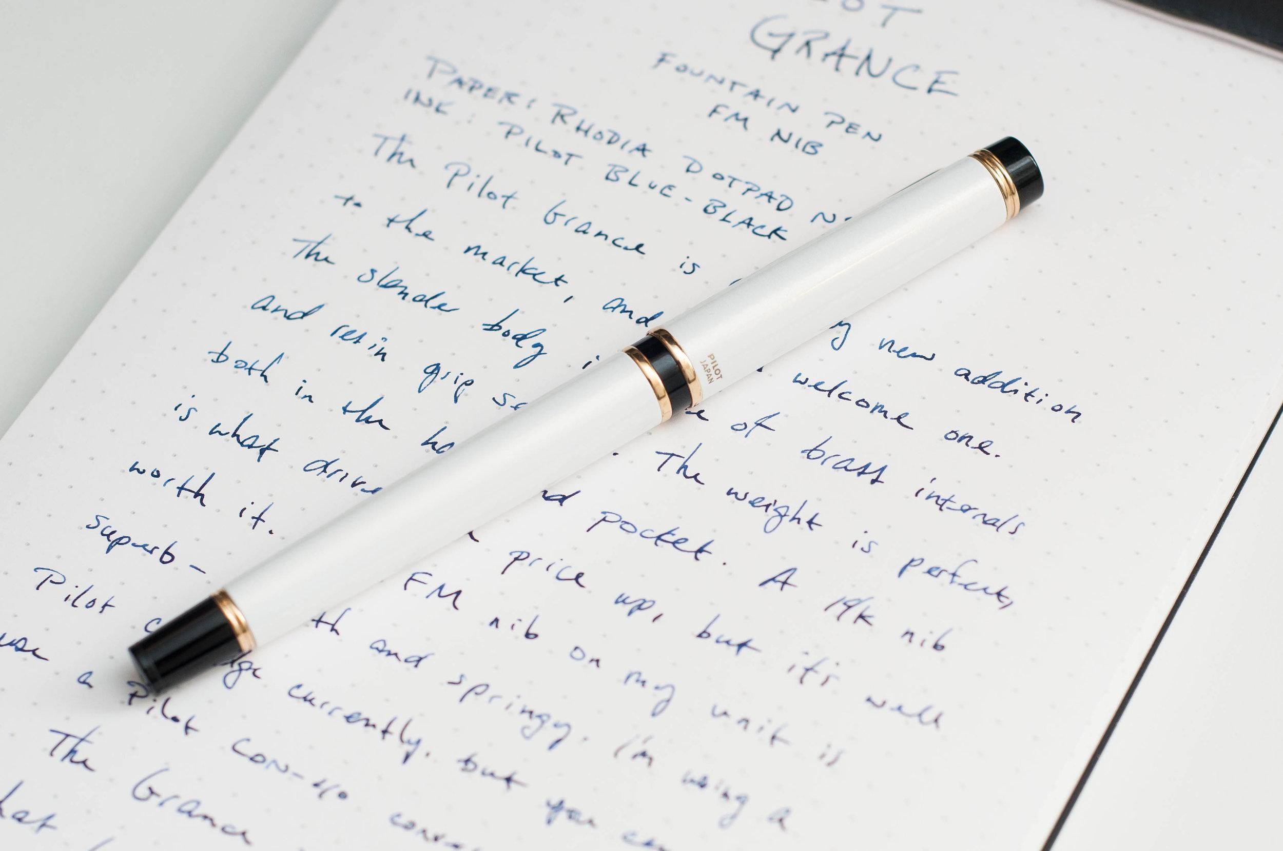 Pilot Grance Fountain Pen Review