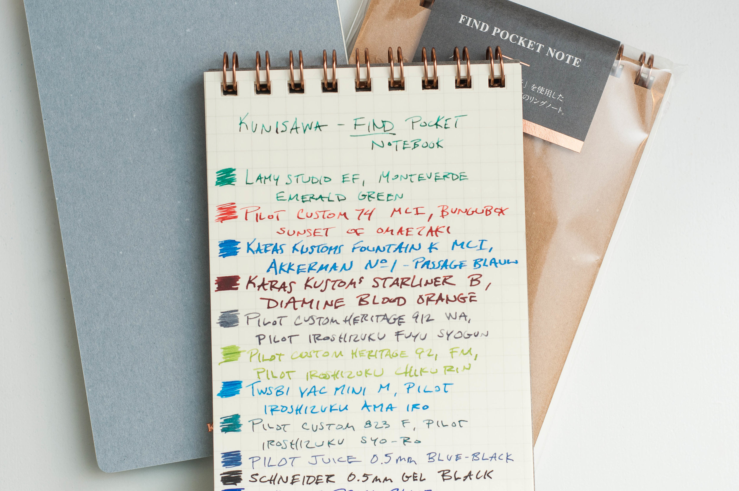 Kunisawa Find Pocket Notebook Writing