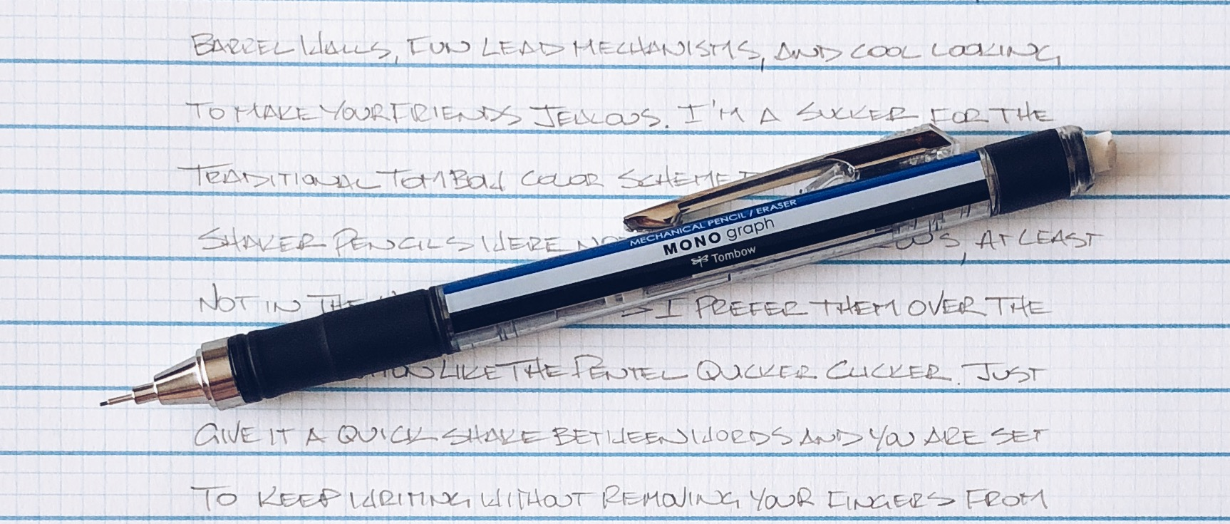 Tombow Mono Graph Grip Shaker Mechanical Pencil Review