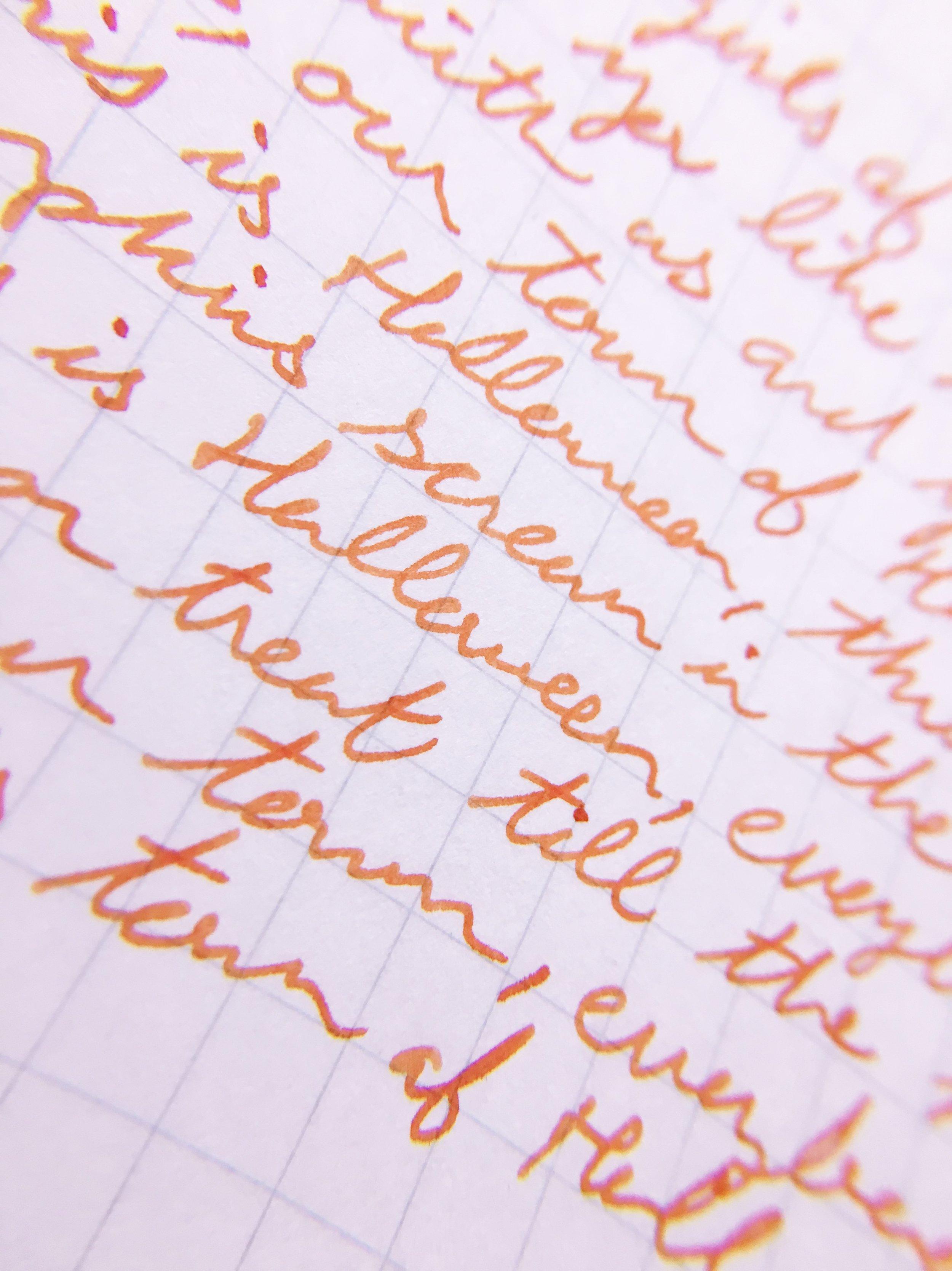 Monami Olika Fountain Pen Writing