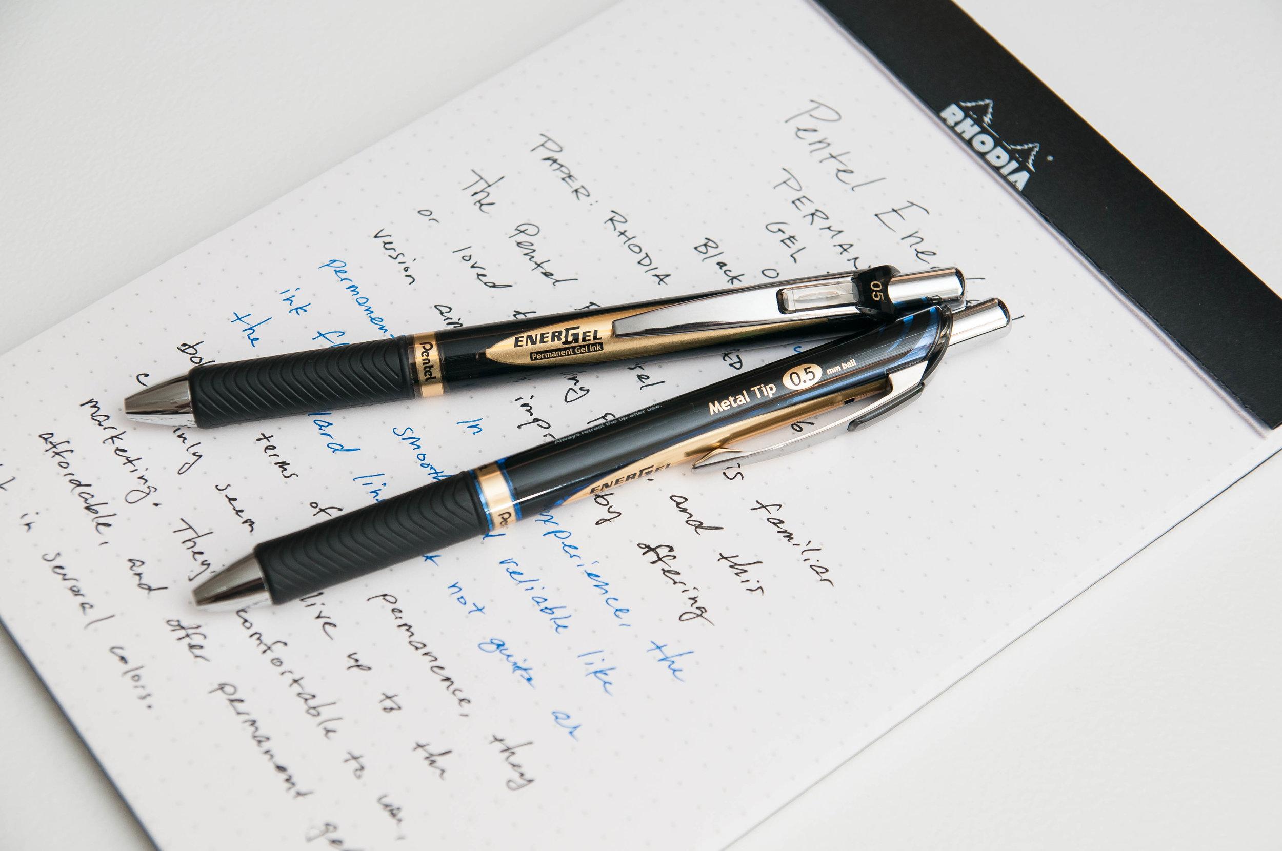 Pentel EnerGel Permanent Gel Ink Pen Review