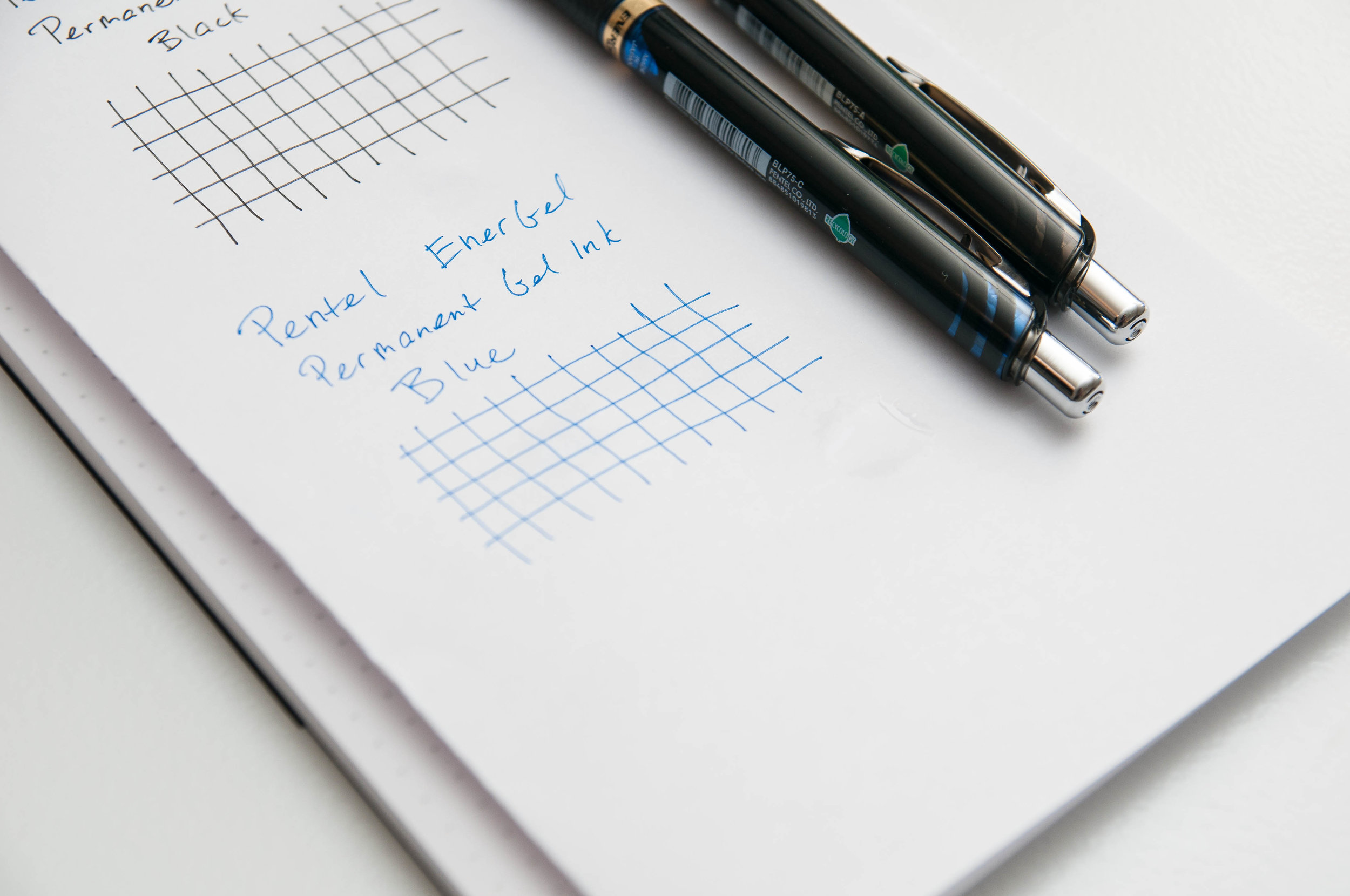 Pentel EnerGel Permanent Gel Ink Pen Water