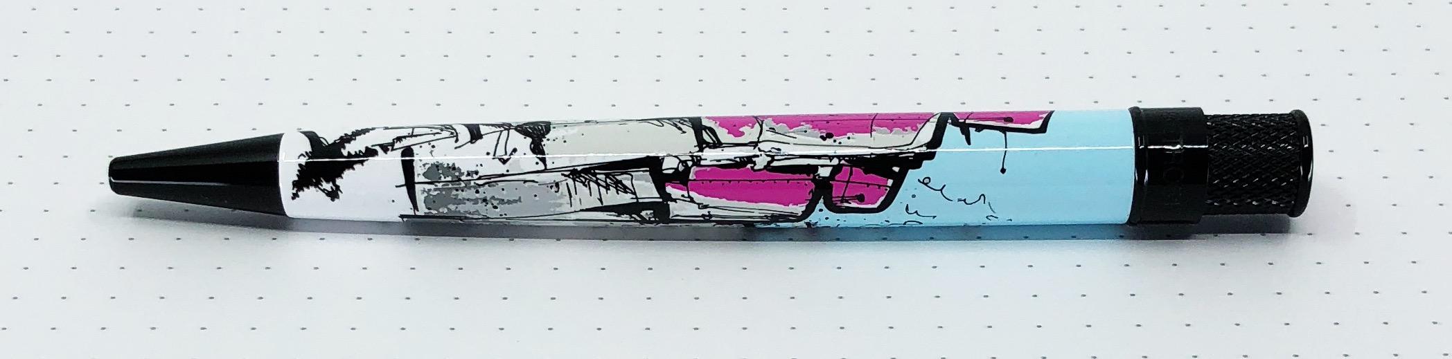 Pen Addict Retro 51 Pink Robots Side