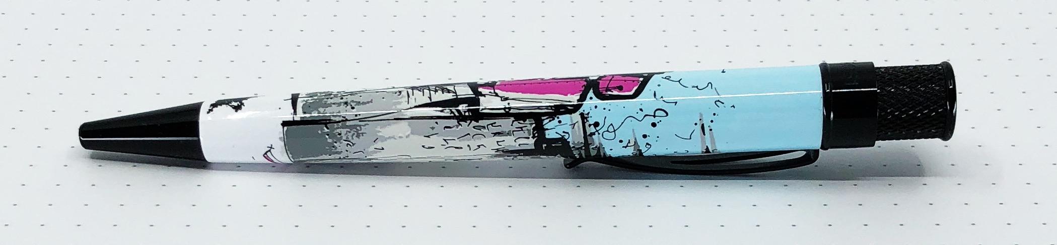 Pen Addict Retro 51 Pink Robots Side 3