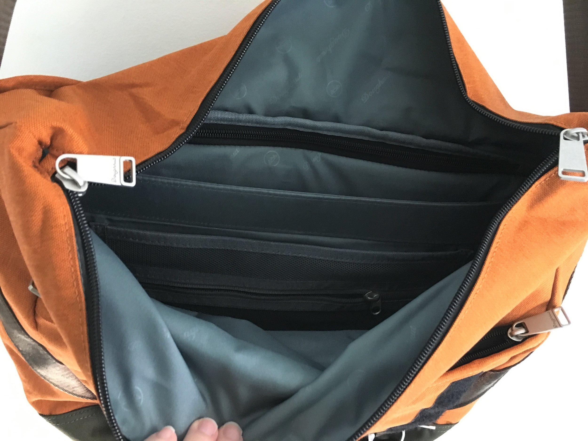 Doughnut Denver Messenger Bag Inside