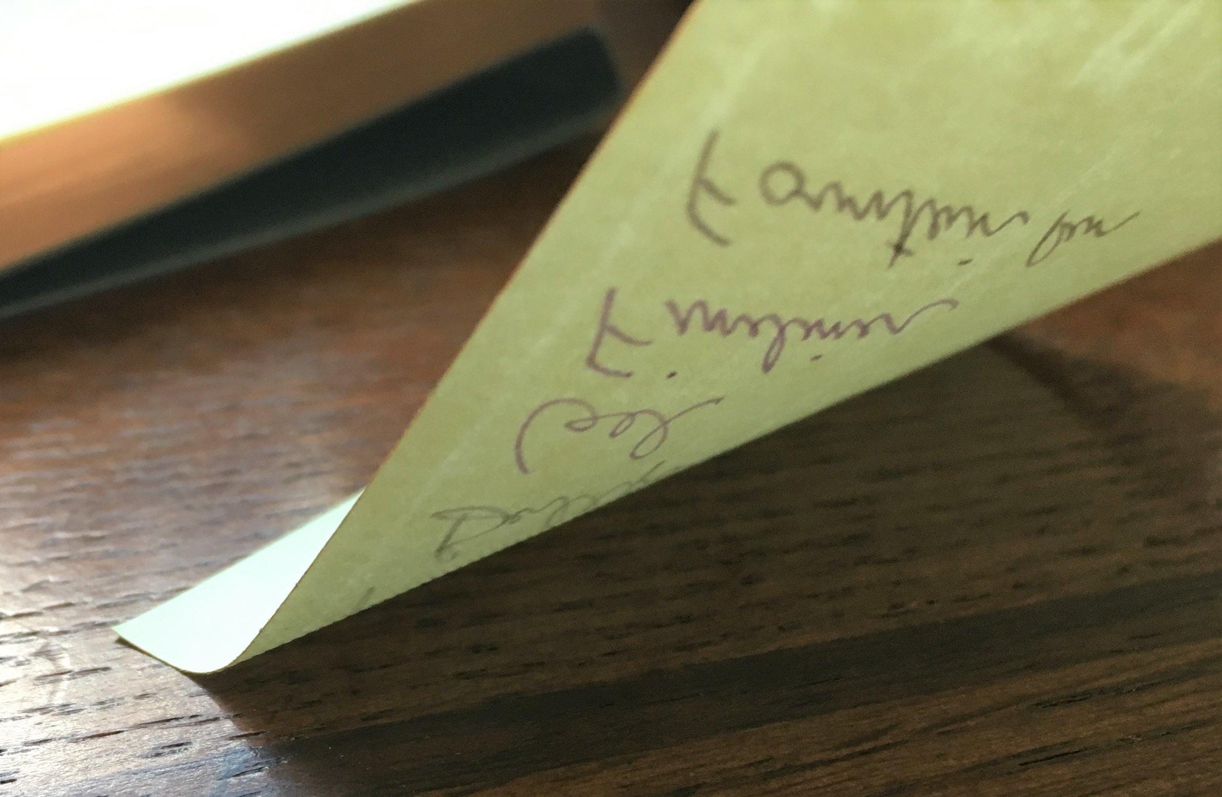 Kunisawa Sticky Note