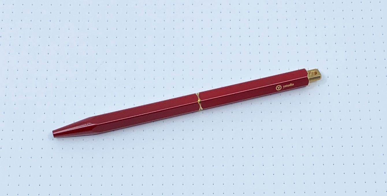 ystudio Portable Brassing Ballpoint Pen Review
