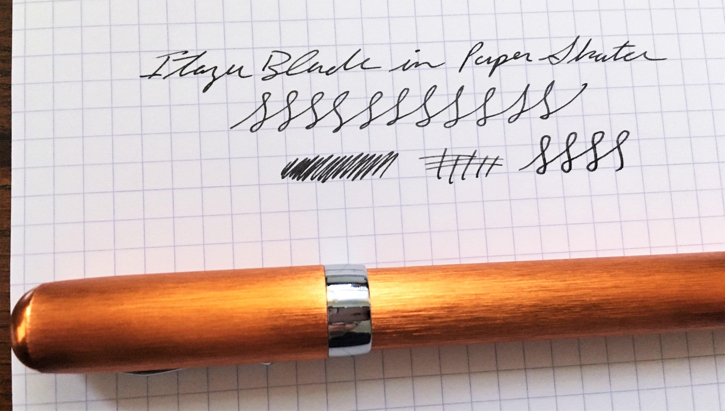 Itoya PaperSkater Galaxy Fountain Pen Writing