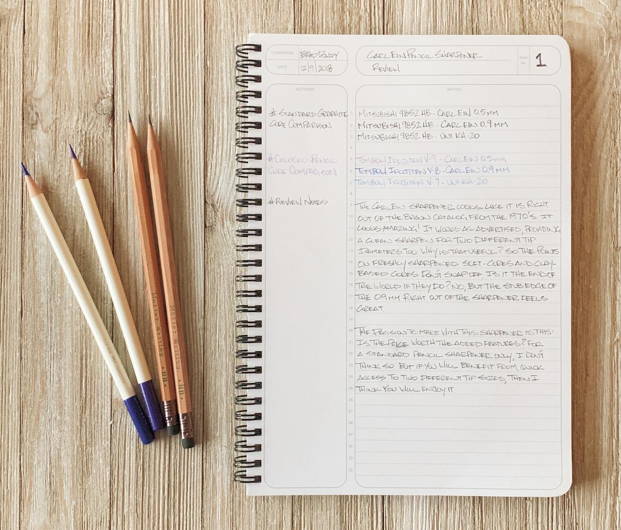 Carl Ein Pencil Sharpener Notebook
