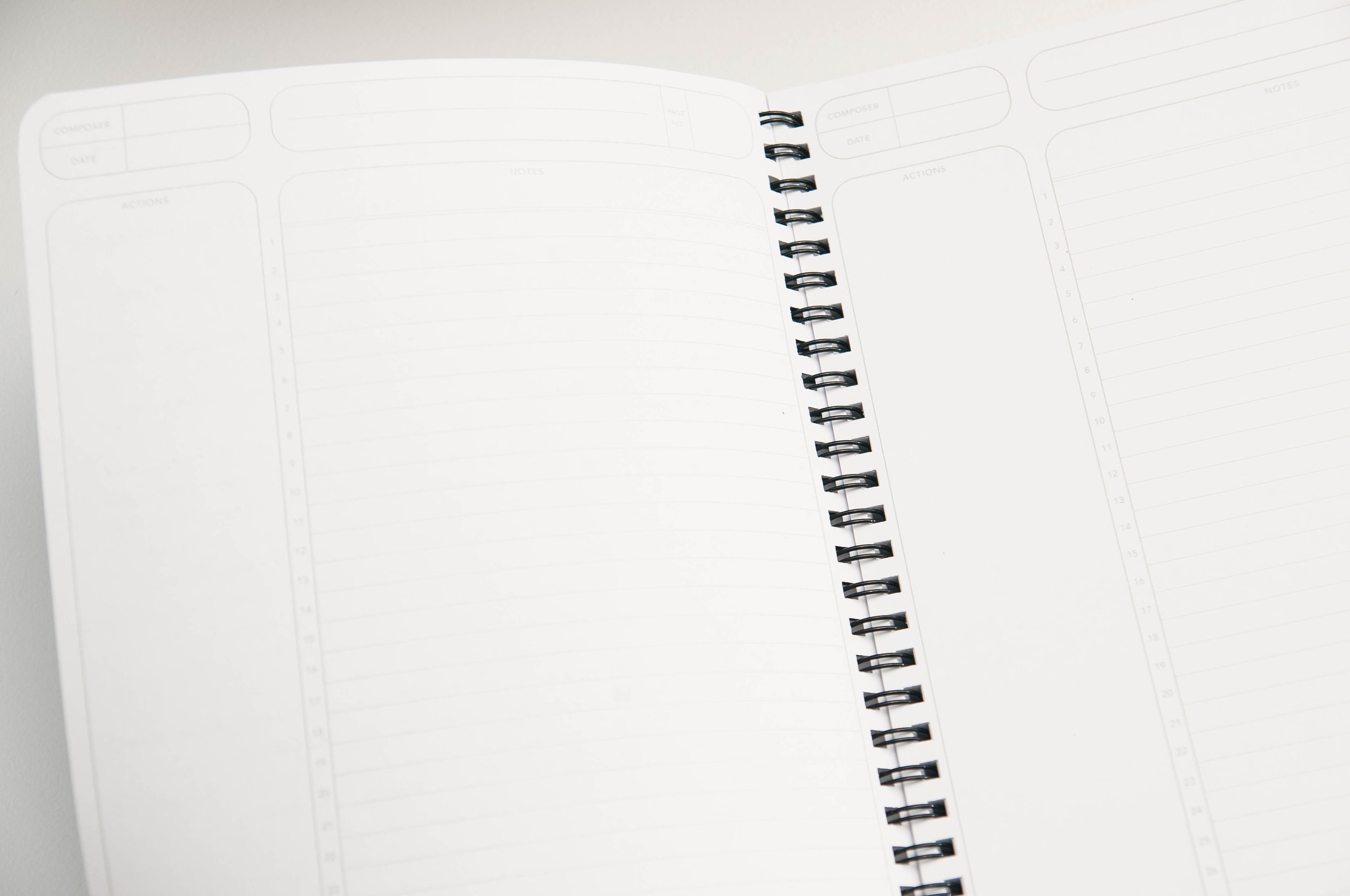 Write Notepads Meeting Notebook Layout