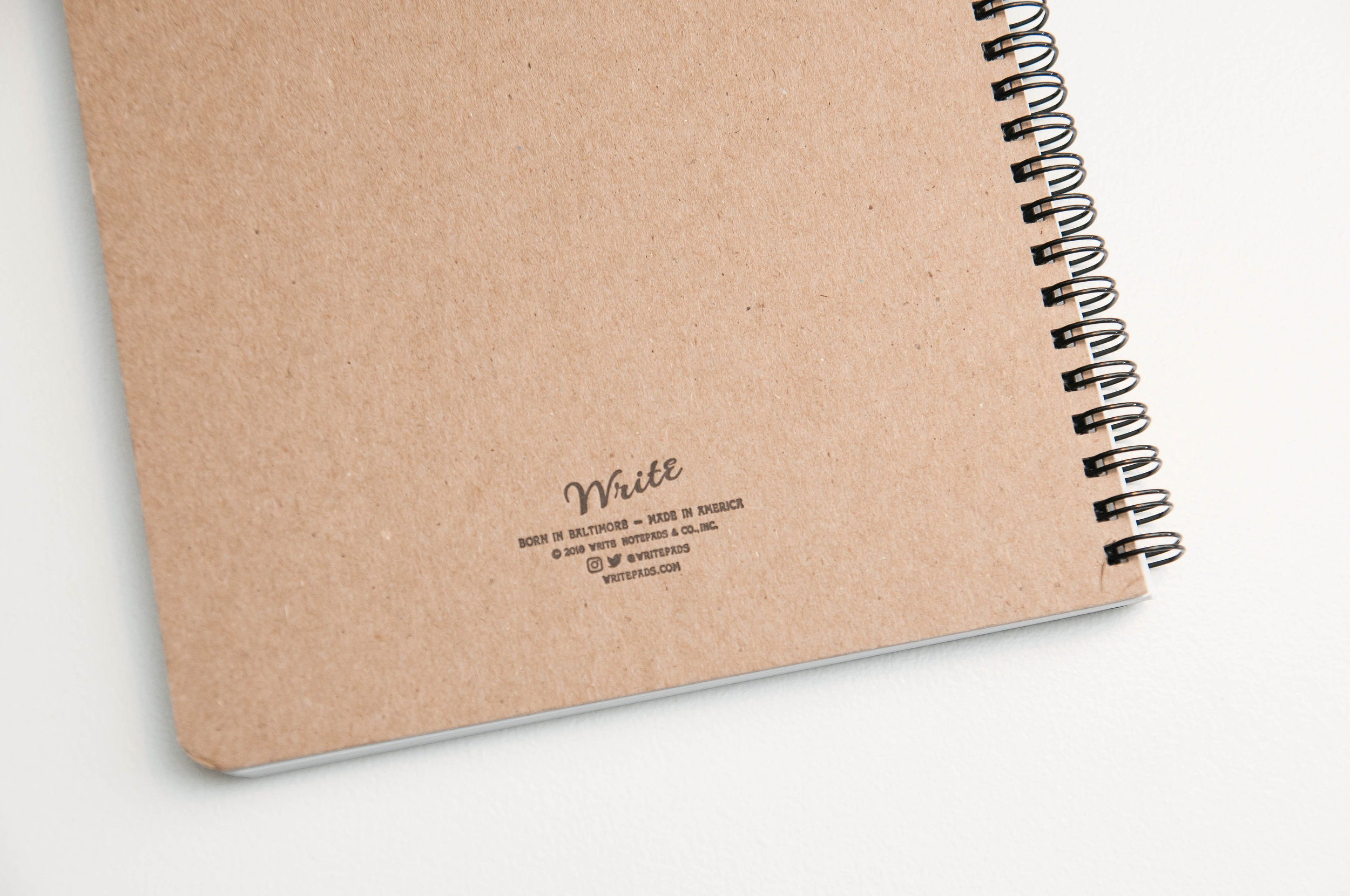 Write Notepads Meeting Notebook Back Cover