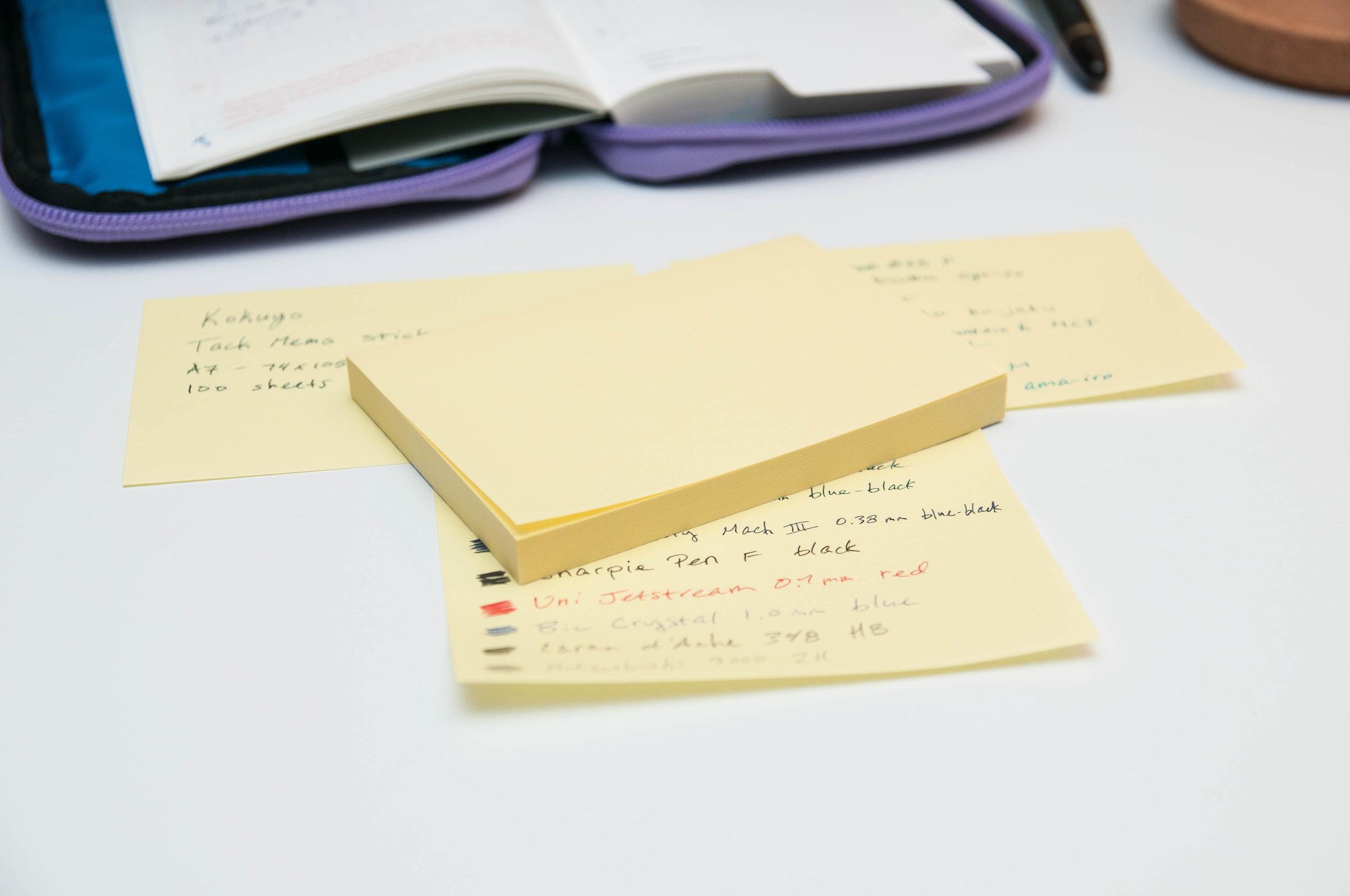 Kokuyo Tack Memo Sticky Notes