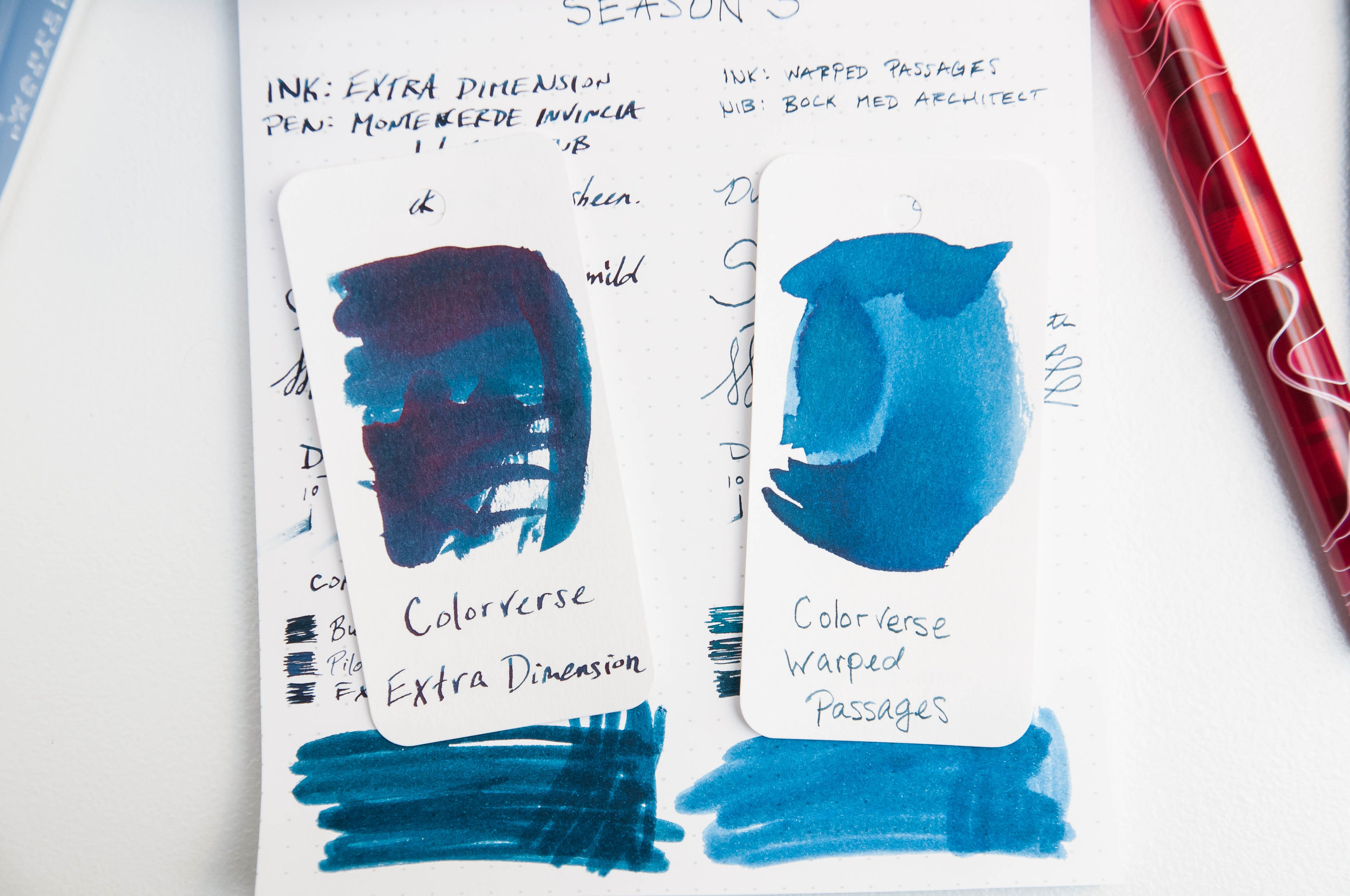 Colorverse Extra Dimension & Warped Passages Ink Review