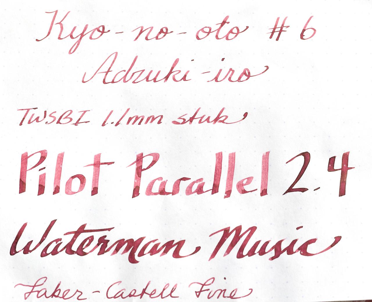 Kyo-no-oto No. 6 Adzuki-iro Ink Various Nibs