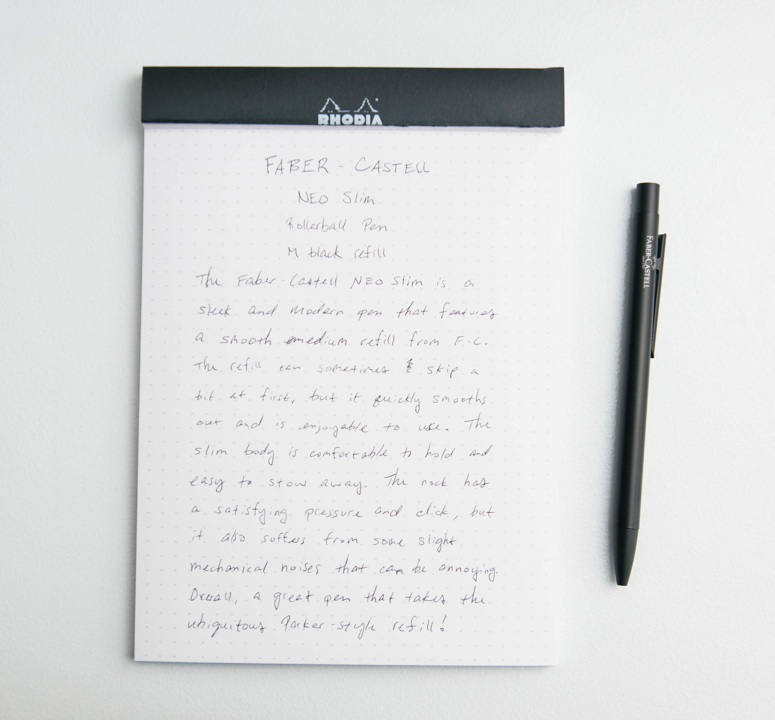 Faber-Castell NEO Slim Rollerball Pen Writing