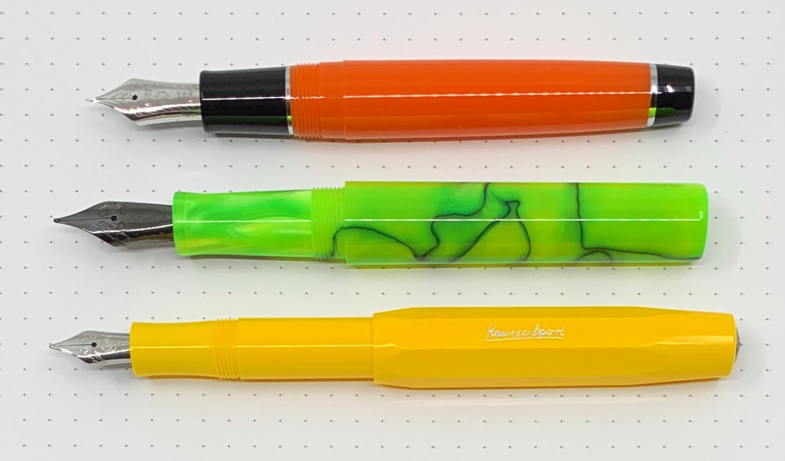 Woodshed Fountain Pen Comparison