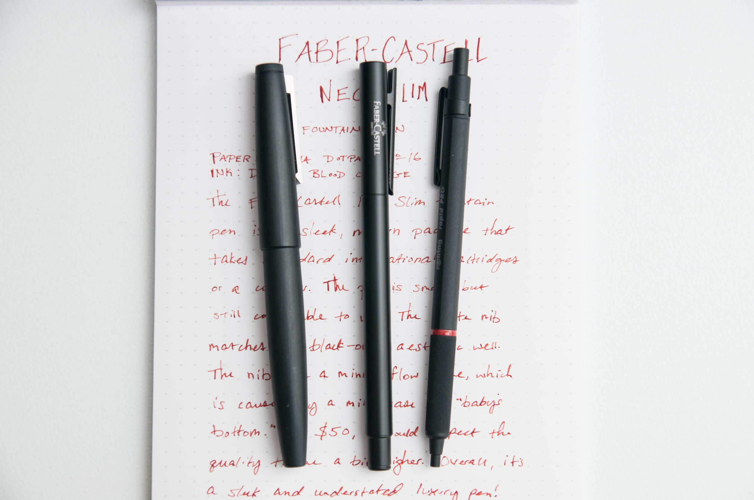 Faber-Castell NEO Slim Comparison