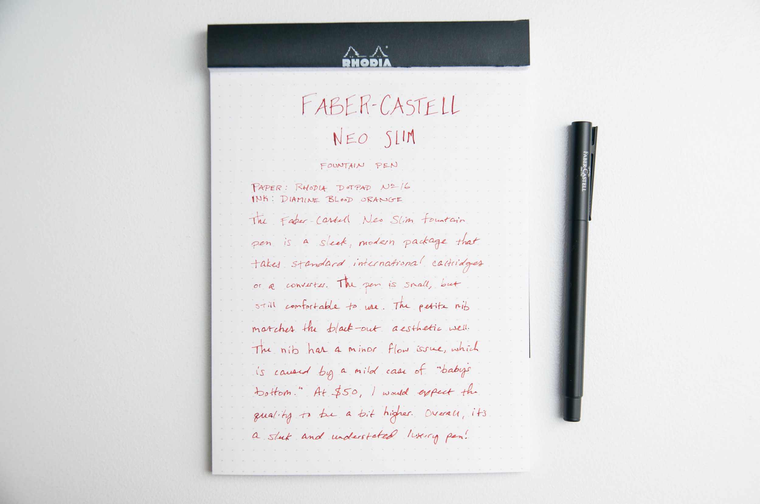 Faber-Castell NEO Slim Fountain Pen Writing