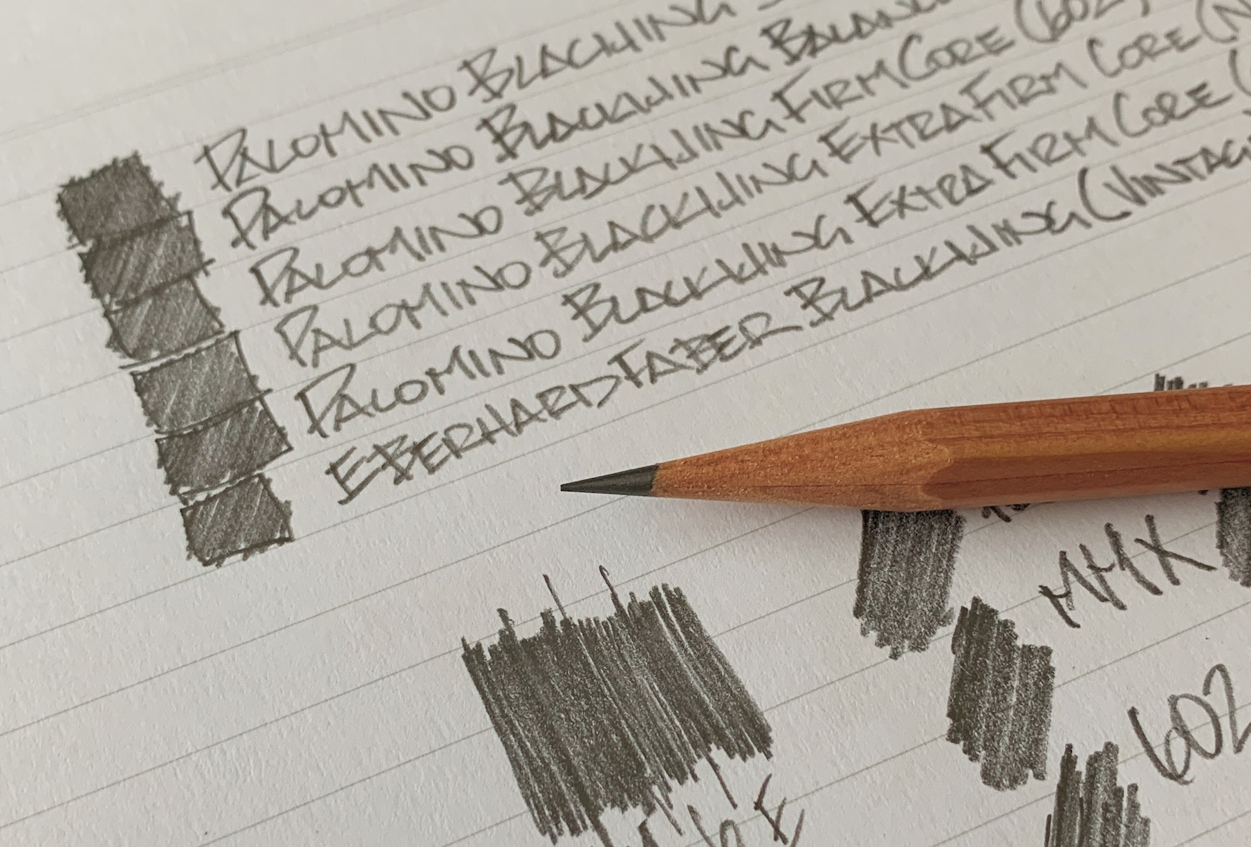 Palomino Blackwing writing samples