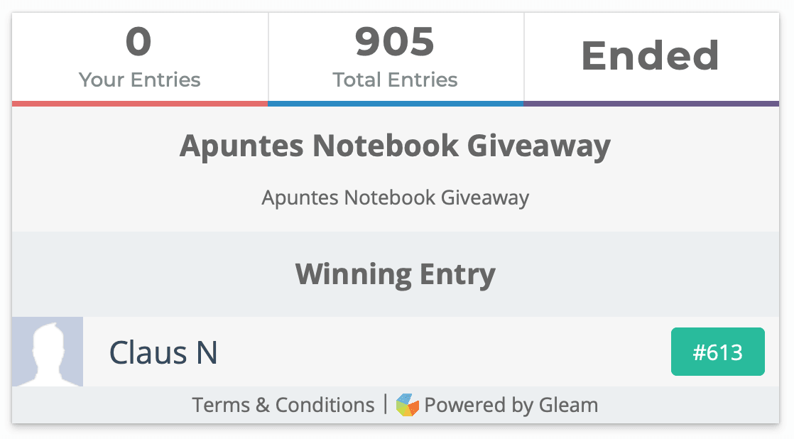 Apuntes Notebook Giveaway