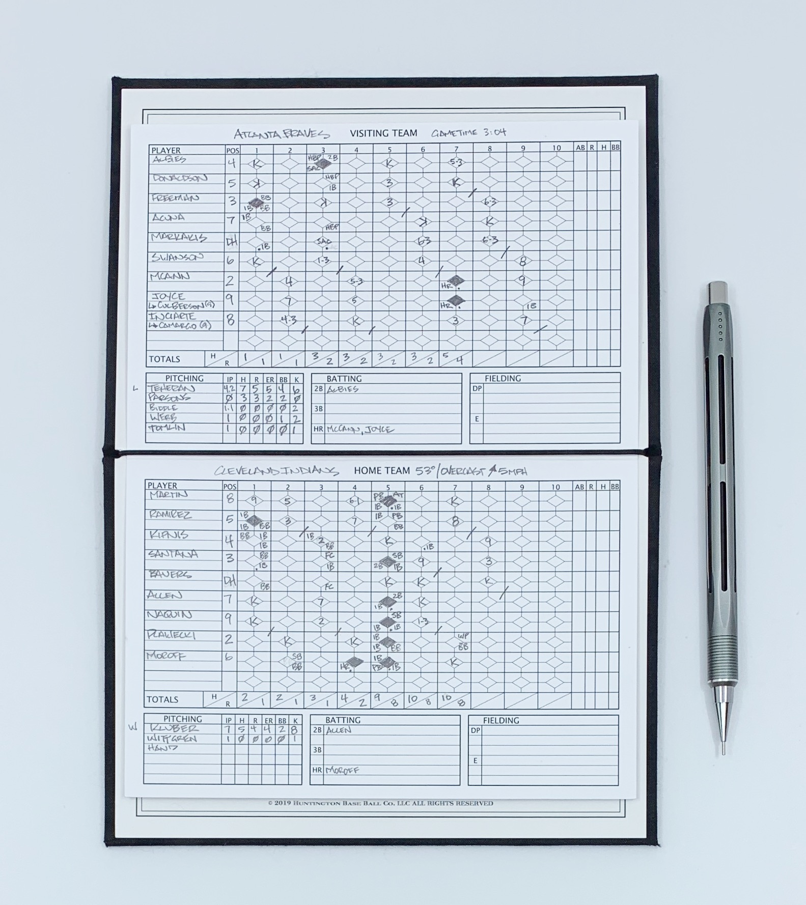 Baseball Scoring Notebook