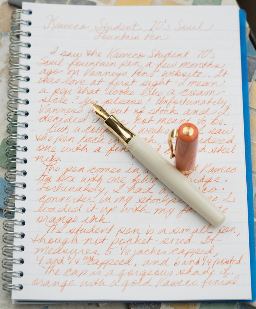 Kaweco Student 70s Soul Fountain Pen Writing