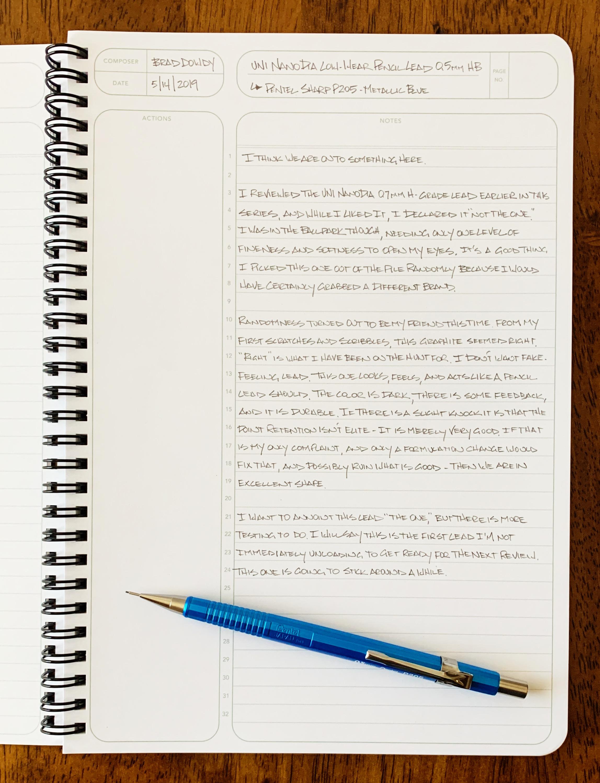 Uni NanoDia Low-Wear Pencil Lead Review