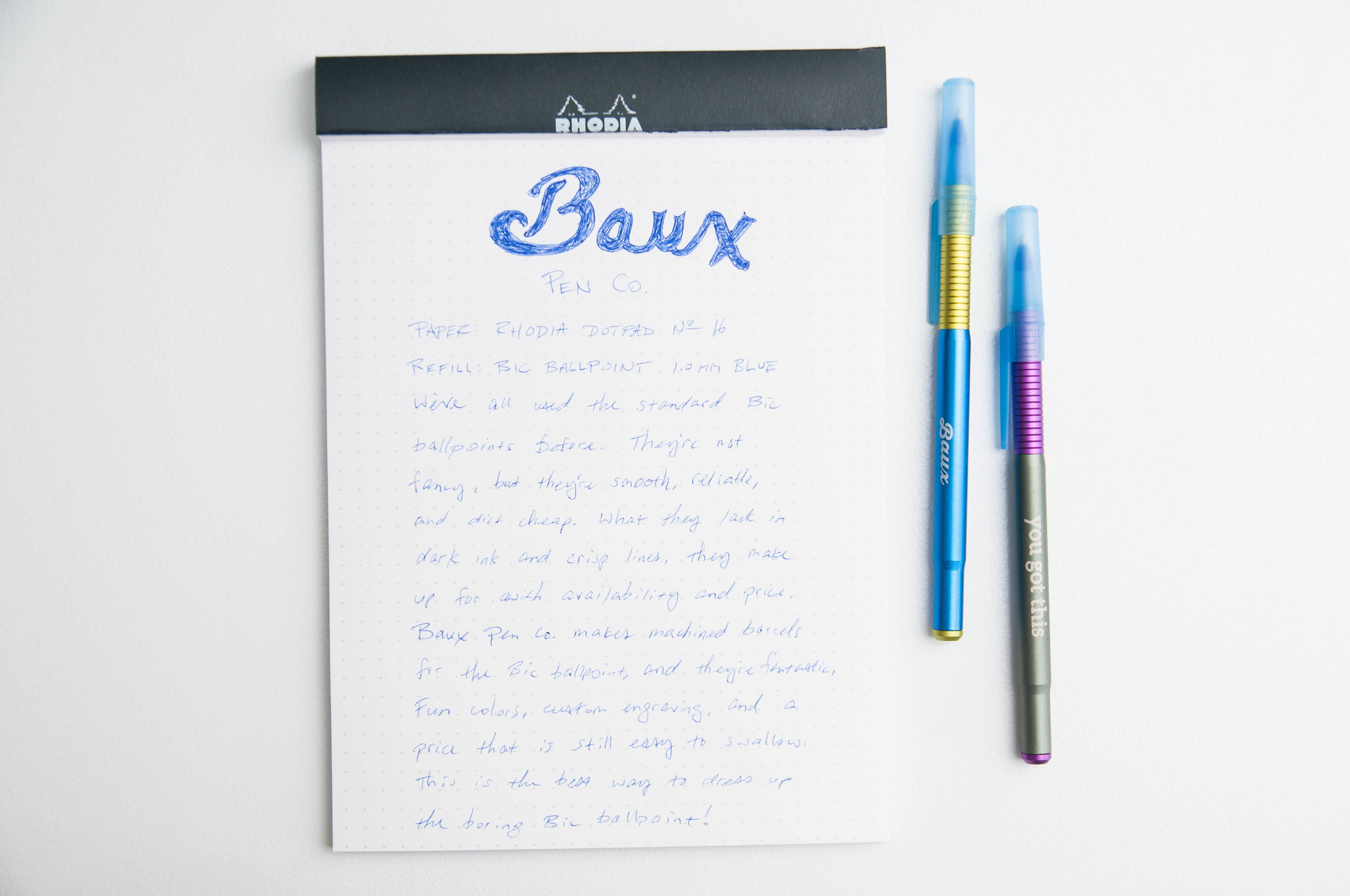 Baux Pen Writing
