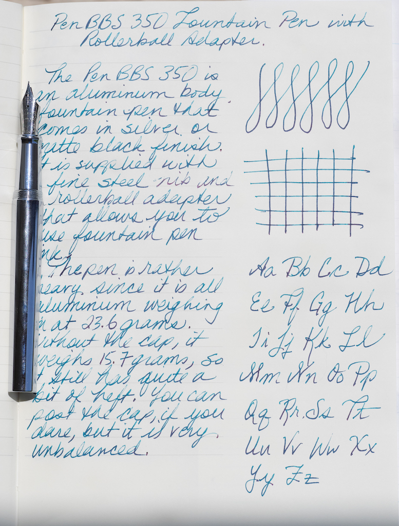 PenBBS 350 Fountain Pen Writing