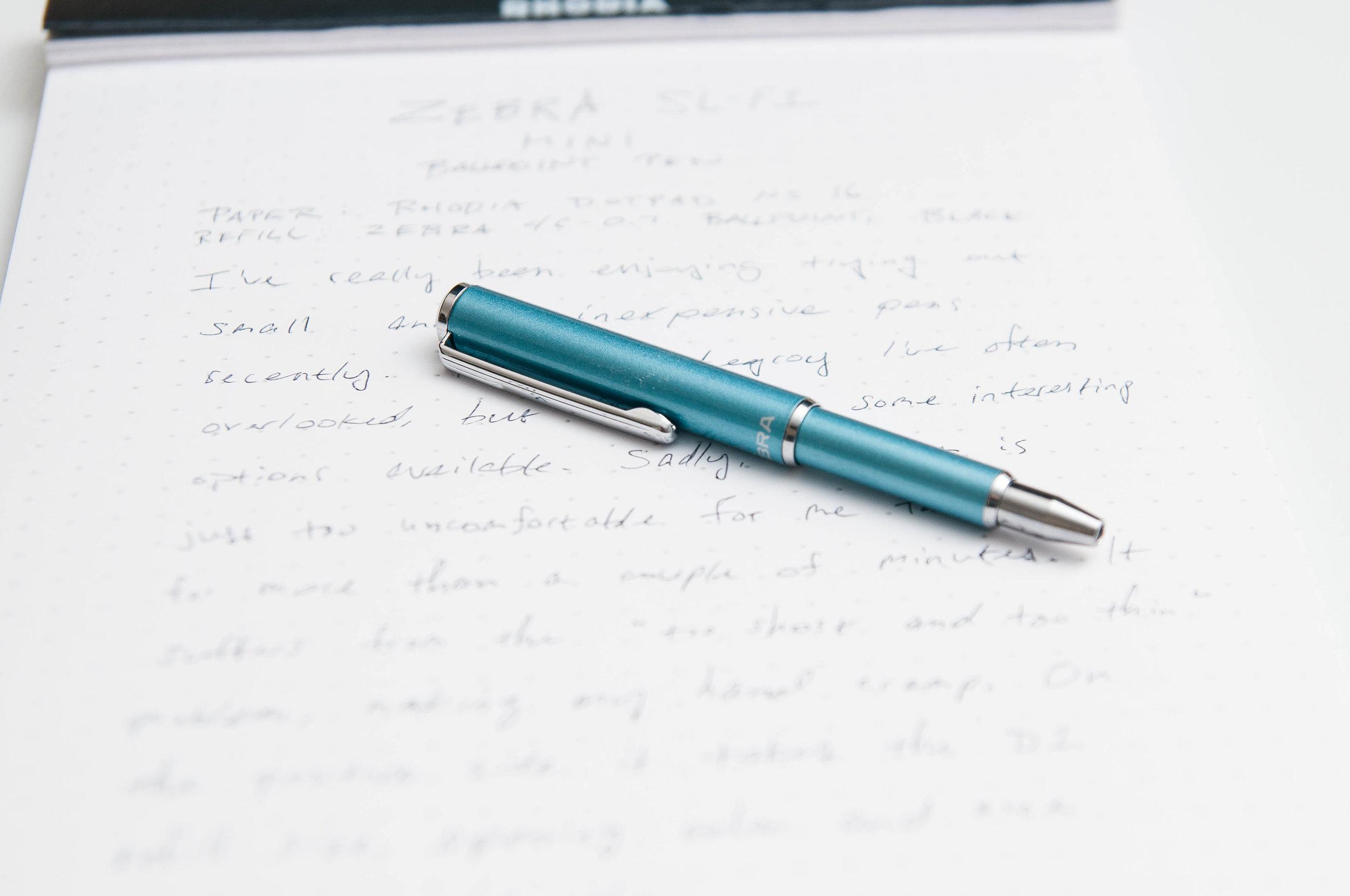 Zebra SL-F1 Mini Ballpoint Pen Review