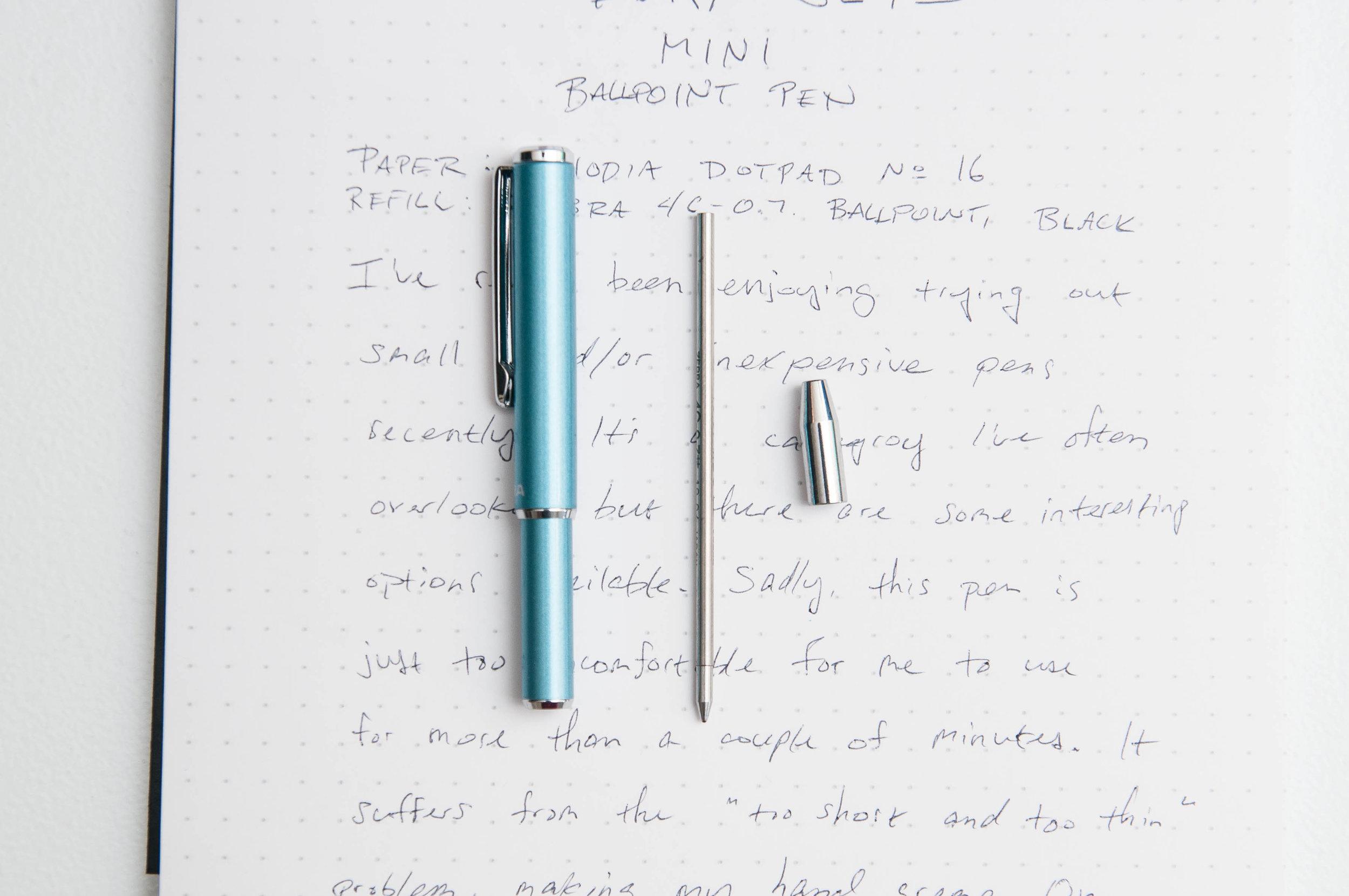 Zebra SL-F1 Mini Ballpoint Pen D1 Refill