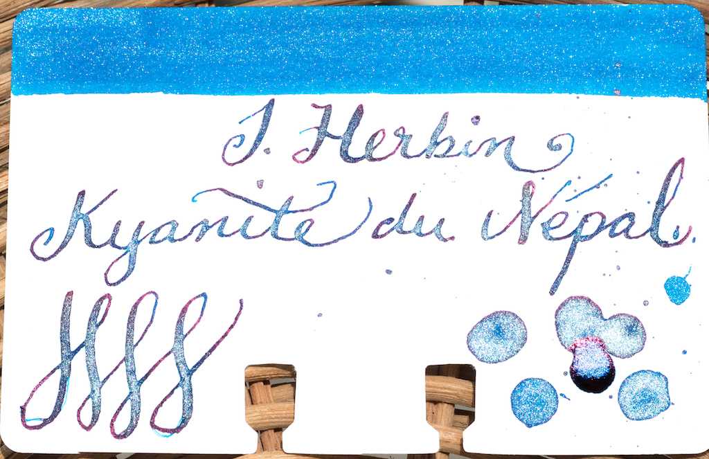 J. Herbin Kyanite du Népal Ink Card Swab