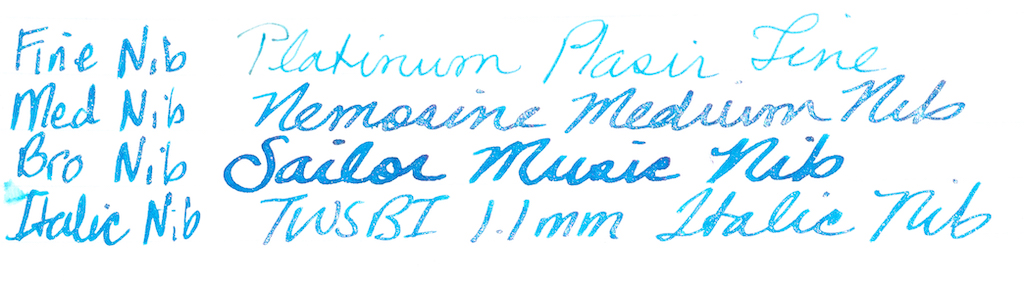 J. Herbin Kyanite du Népal Ink Nib Test