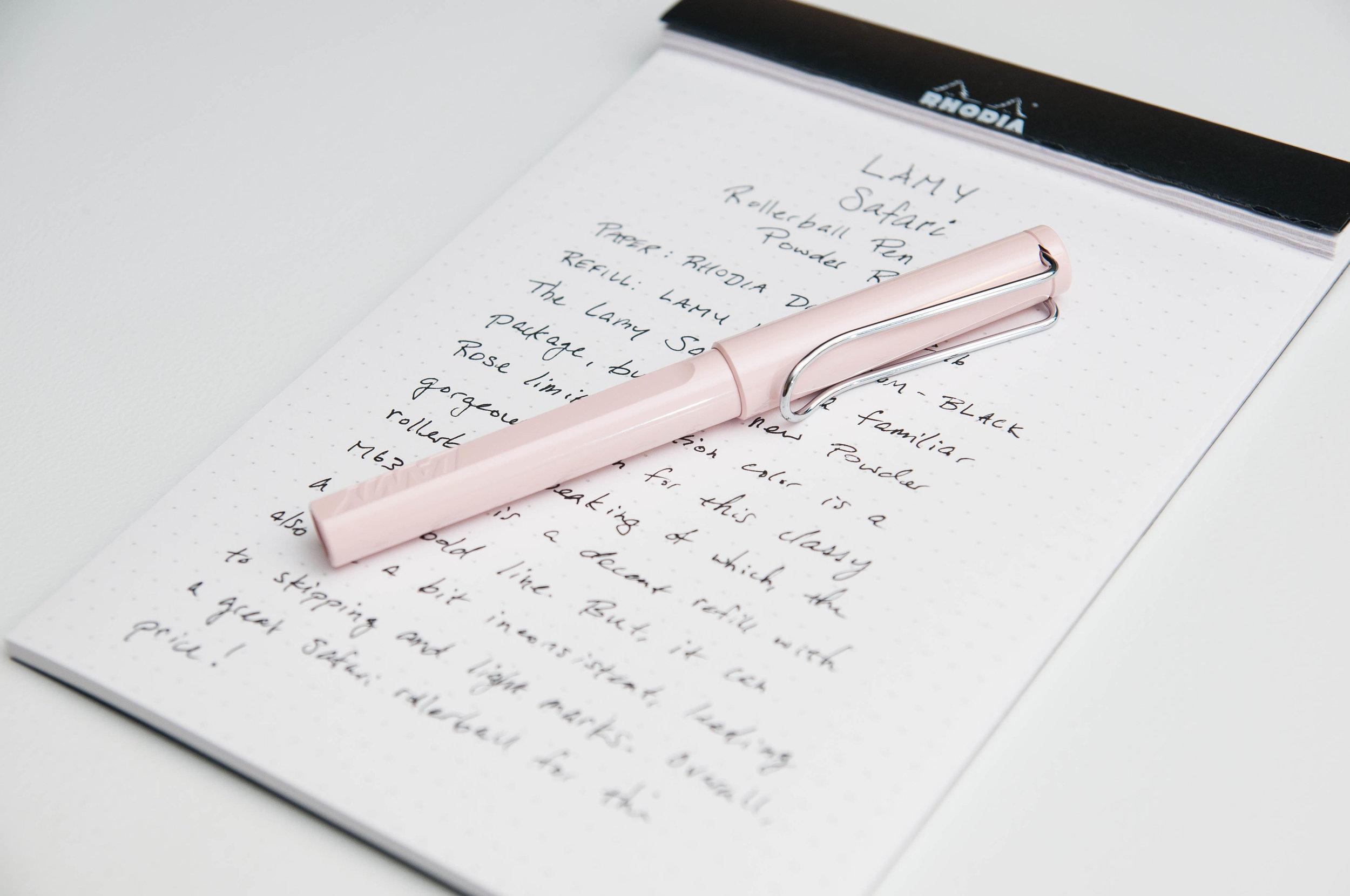 Lamy Safari Powder Rose Rollerball Pen Review