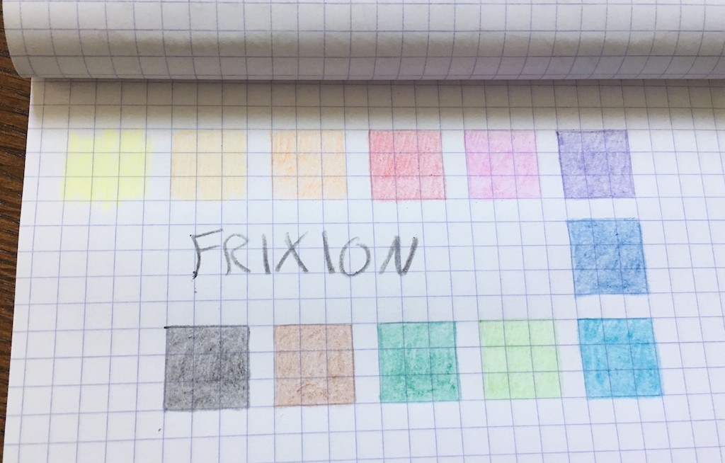 Pilot Frixion Colored Pencils Color
