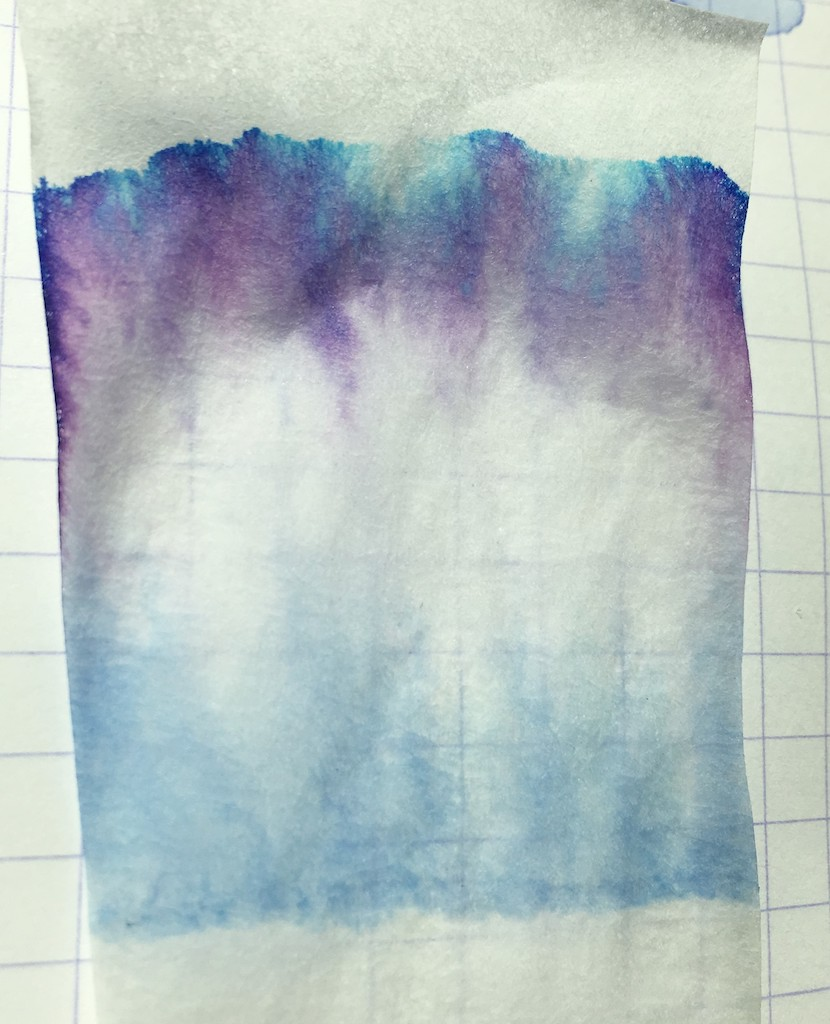 Robert Oster Bishop to King Fountain Pen Ink Chromatography