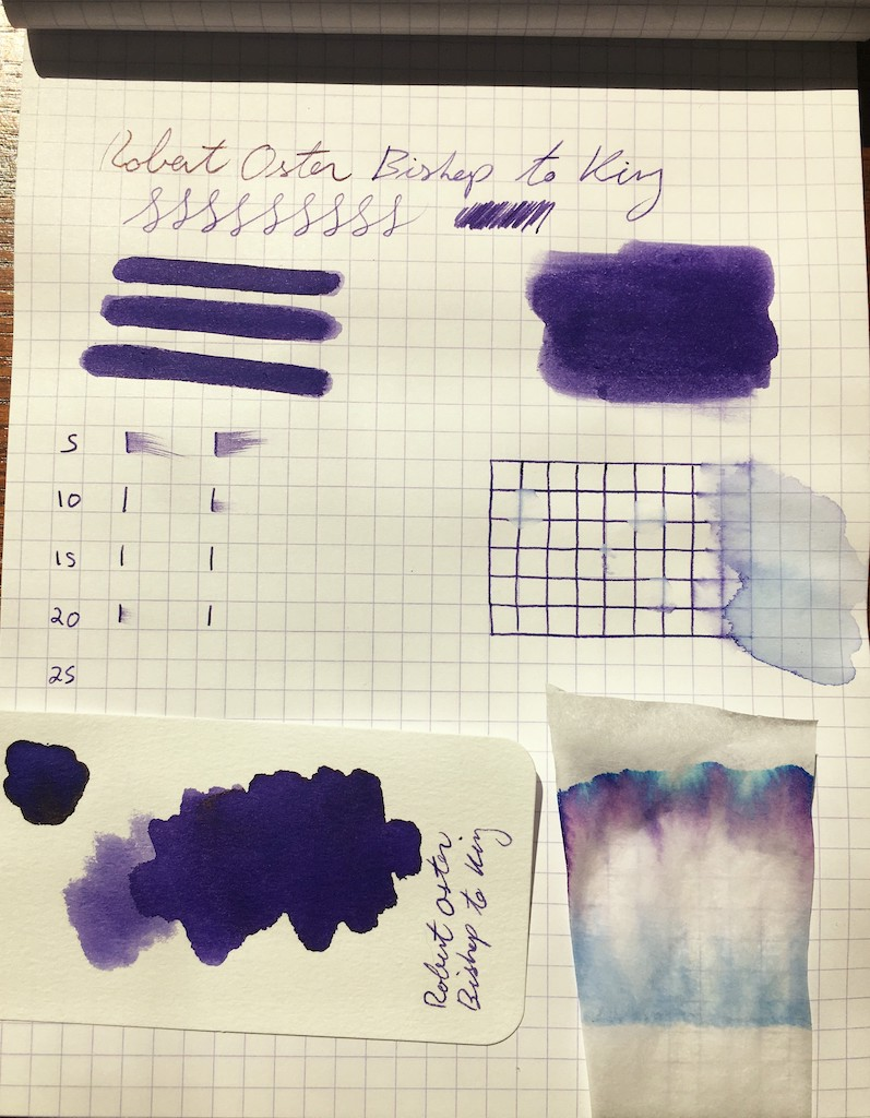 Robert Oster Bishop to King Fountain Pen Ink Tests