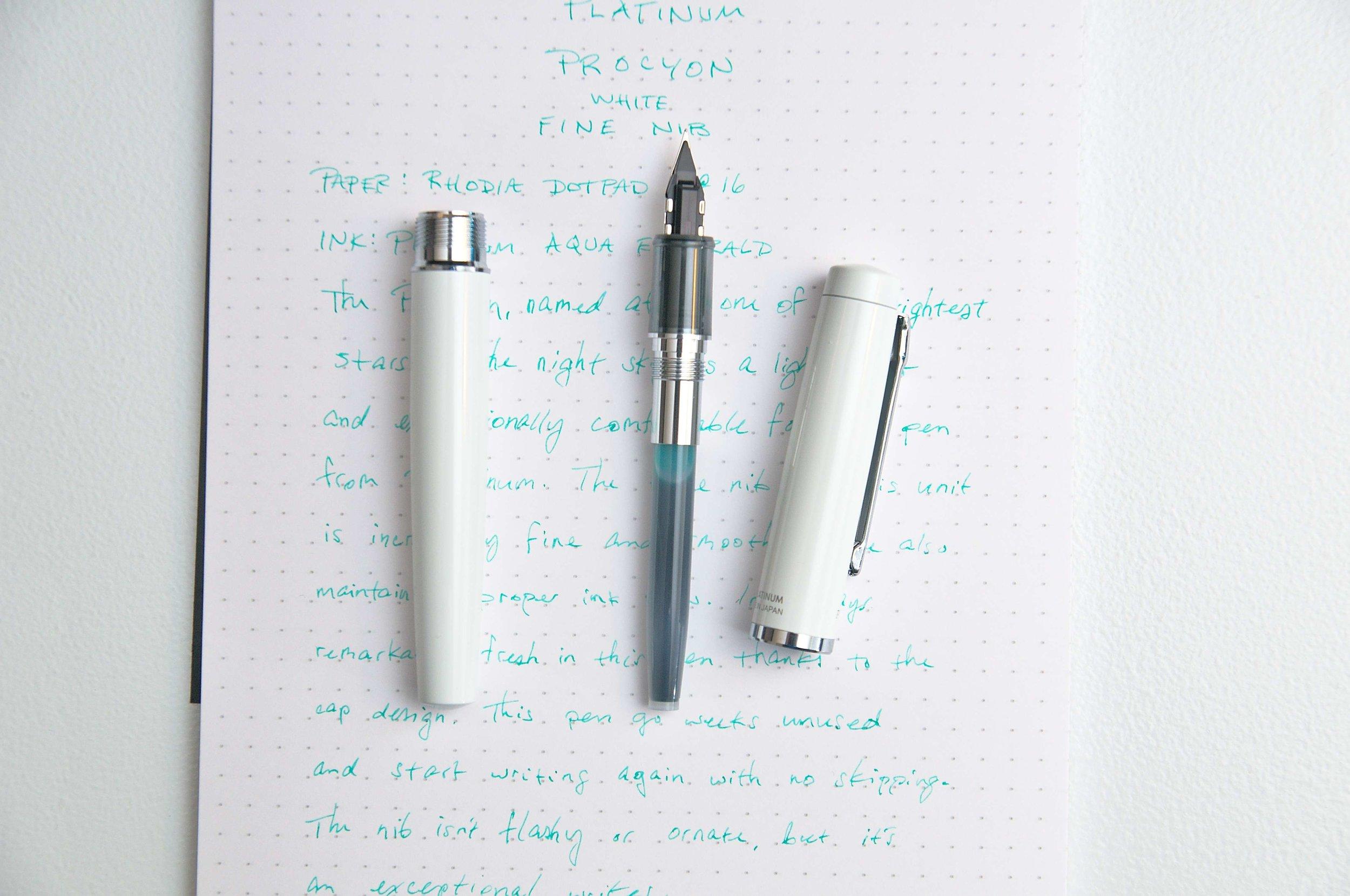 Platinum Procyon Fountain Pen Open
