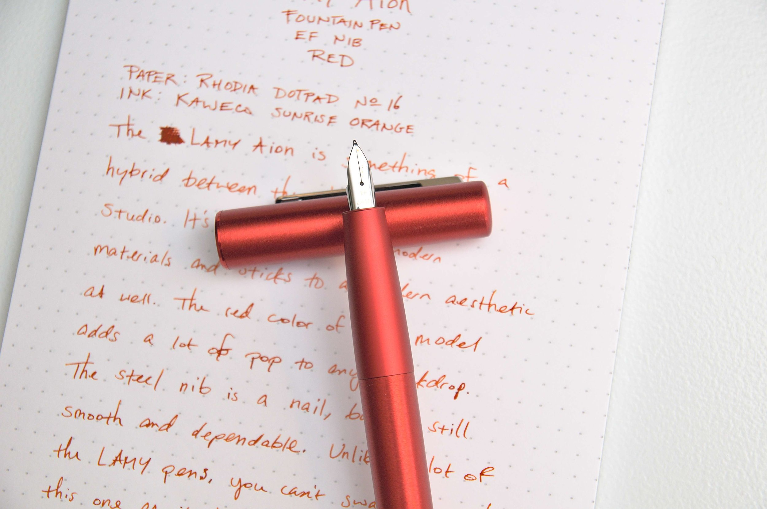 Lamy Aion Fountain Pen Red