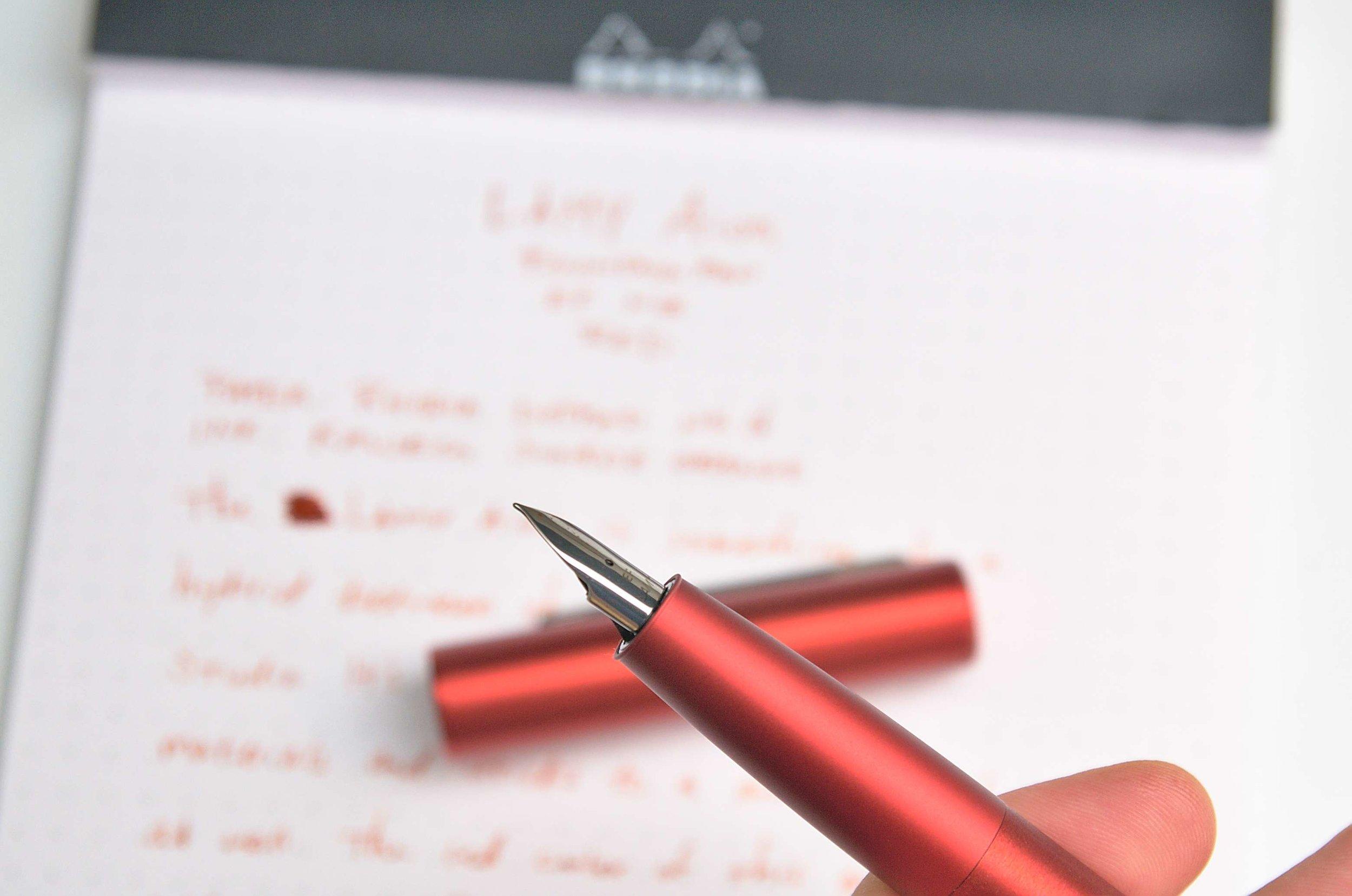 Lamy Aion Fountain Pen Red Nib