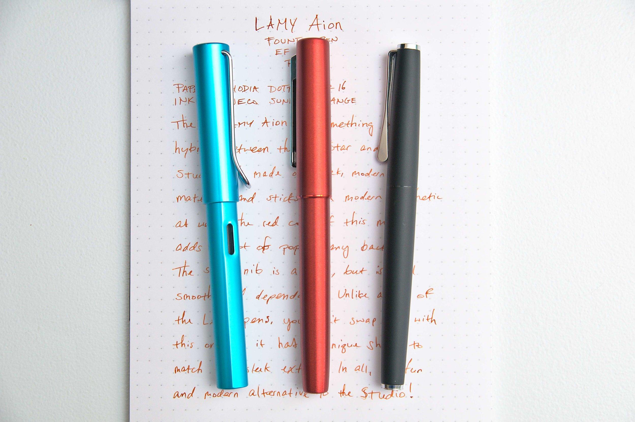 Lamy Aion Fountain Pen Comparison